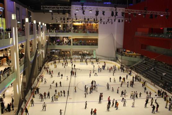 Ice Skating in Dubai Mall